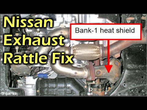 nissan rogue radio wiring diagram nissan rogue 2010 engine diagram nissan exhaust rattle buzzing noise fix youtube