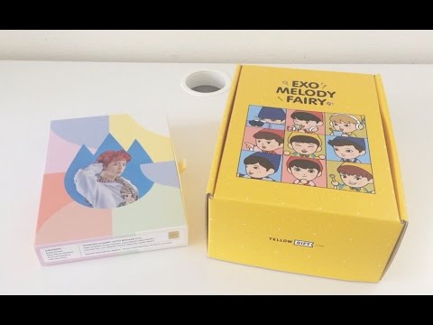 [UNBOXING] EXO Chanyeol Happy Lotto Box + Melody Fairy Yellow Gift Box