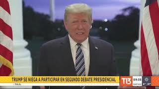 """Donald Trump se niega a participar de debate """"virtual"""" con Joe Biden"""