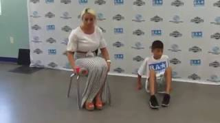 Mandy Rose, kids at WWE Be a STAR at Boys & Girls Club South Beach in Miami
