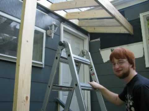 Building A Roof Over A Stoop Youtube