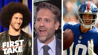 'Giants need to sign Colin Kaepernick right now' - Max Kellerman | First Take