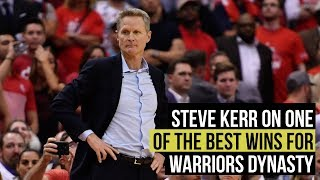NBA playoffs: Kerr on one of the most satisfying wins for Warriors dynasty