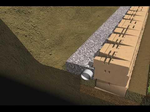 7 Drainage Amp Backfill Mosaic Retaining Wall