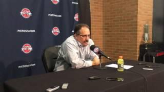 Stan Van Gundy reacts to Pistons' 106-90 win over Cavs