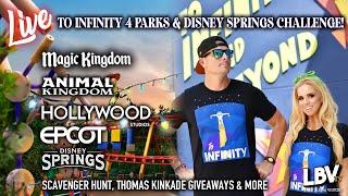 🔴4 Parks & Disney Springs Challenge! Scavenger Hunt, Thomas Kinkade Painting Giveaways, & More!