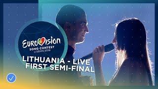 Ieva Zasimauskaitė - When We're Old - Lithuania - LIVE - First Semi-Final - Eurovision 2018