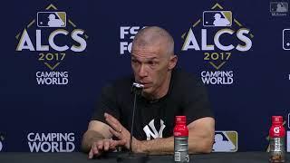 Joe Girardi Postgame Interview   Yankees vs Astros Game 6 ALCS