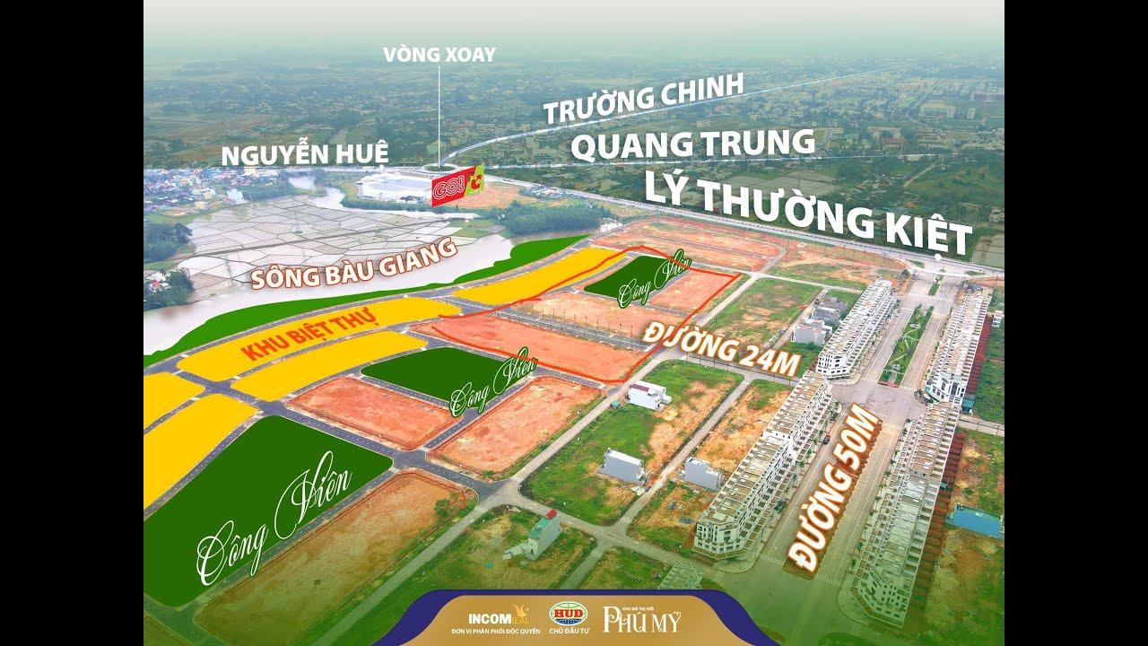 Mặt tiền 24m khu đô thị Phú Mỹ Quảng Ngãi, DT 125m2, giá 1tỷ 950 triệu, chiết khấu 3% NH hỗ trợ 70% video