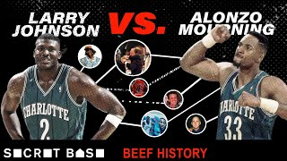 Larry Johnson's beef with Alonzo Mourning included a sad Hornets mural and a weird Knicks-Heat fight
