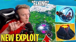 Tfue Shows *NEW* Fortnite FLYING Exploit Using BALLER & VOLCANO!! (Broken)