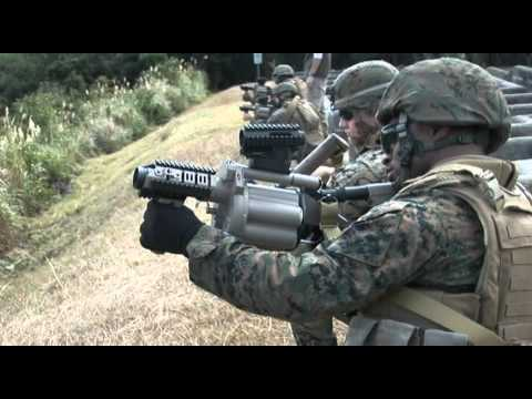 Marines Fire Grenade Launchers At M32a1 Missile Range