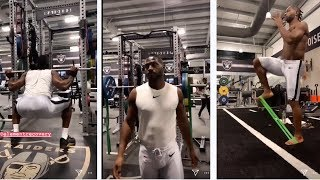 Antonio Brown In Raiders Weight Room Late At Night Getting A Workout