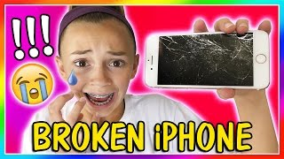 KAYLA BROKE HER iPHONE!   CAN WE FIX IT?   We Are The Davises