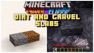 NEW Dirt & Gravel Half Slabs CONFIRMED? | Minecraft 1.17 Caves & Cliffs Update