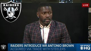 Antonio Brown EXCITED to join the RAIDERS | Introductory Press Conference | CBS Sports HQ