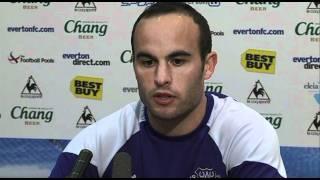 Landon Donovan's Delighted to be back at Everton | West Brom v Everton 01/01/2012