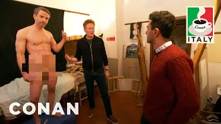 Jordan Schlansky Poses As A Nude Model  - CONAN on TBS
