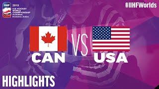 Canada vs. USA - Game Highlights - #IIHFWorlds 2019