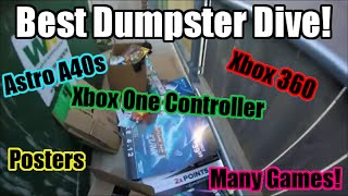 Best GameStop Dumpster Dive Haul Ever! (Astro A40's, Xbox One Controller, Xbox 360) - Episode 9
