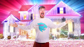 I Put 1,000,000 Christmas Lights On A House (World Record)