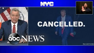 New York City cancels all contracts with Trump Organization