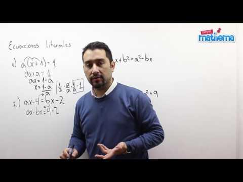 Ecuaciones literales 1