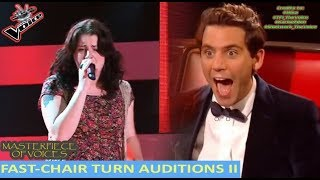 FASTEST CHAIR TURN AUDITIONS IN THE VOICE [PART 2]