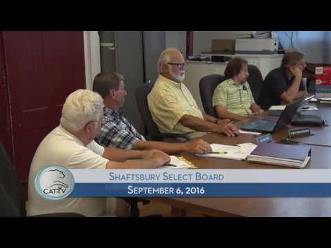 Shaftsbury Select Board - 9/6/16