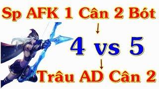 Ashe AD Cân 2 Thằng Ở Bot (4 vs 5) Trâu Bét AD CMNR | Trâu Best Udyr