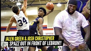 LeBron Witness The BEST AAU GAME of 2019! Jalen Green & Josh Christopher SPAZZED OUT!!