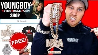 I Bought EVERY FREE NBA YoungBoy Rapper Chain & Merch!! ((IS IT WORTH IT?!)