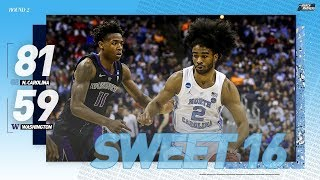 North Carolina vs. Washington: Second round NCAA tournament extended highlights