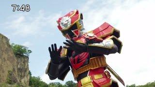 Akaninger Choizetsu First Transformation - Power Rangers Shuriken sentai Ninninger