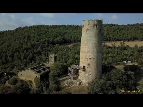 La Torre de Vallferosa a vista de dron