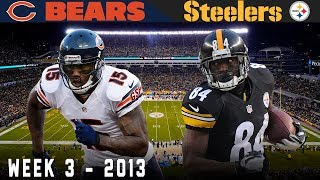 Antonio Brown Becomes a Star on Sunday Night! (Bears vs. Steelers, 2013)