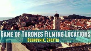 Dubrovnik, Croatia   Game of Thrones Locations
