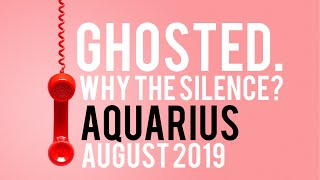 Ghosted - Why the Silence? Aquarius August 20 - 31 Tarot **TWIN FLAME**