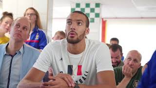 Rudy Gobert watches the French National Team win it all