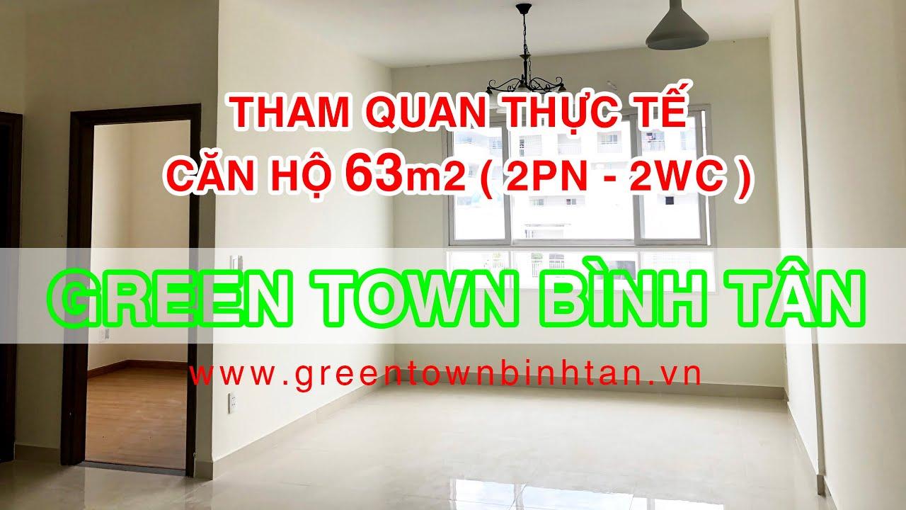 Chính chủ bán căn 63m2 (2PN,2WC) Green Town Bình Tân mới giao nhà, hỗ trợ vay 70% video