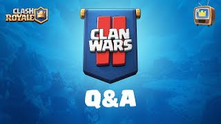 Clash Royale: Clan Wars 2 Q&A!