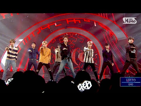 《POWERFUL》 EXO (엑소) - LOTTO (louder) @인기가요 Inkigayo 20160828
