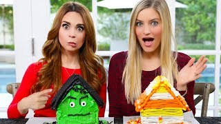 Gingerbread House Decorating Challenge! - HALLOWEEN EDITION ft iJustine!