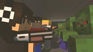 Block dead part 2 - Minecraft animation (ft. acorn Black Jacket Random)