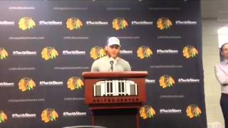 How does Patrick Kane feel after partying since winning the