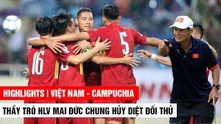 Dưới thời HLV Mai Đức Chung, Việt Nam Hủy Diệt Campuchia như thế này đây | Khán Đài Online