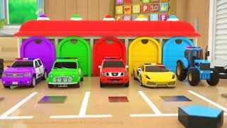 Learn Shapes with Police Truck   Rectangle    Cartoon for Children 3D FUN!