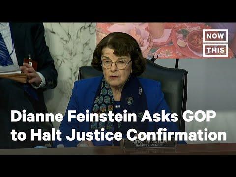 Dianne Feinstein Urges Republicans to Halt SCOTUS Confirmation | NowThis
