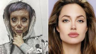 Adaiwa kufanyiwa upasuaji mara 50 ili afanane na Angelina Jolie,  afananishwa na zombie