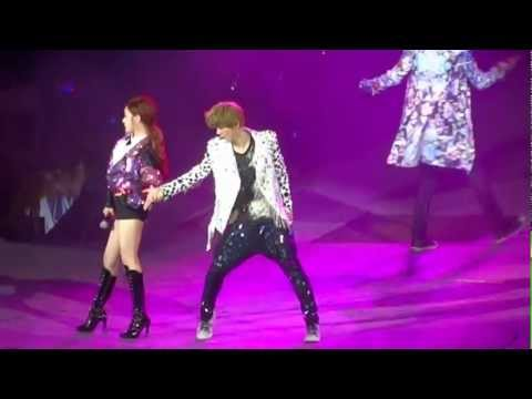 [HD Fancam] Luhan/EXO focus 'Dj Got us Falling in Love Again' LIVE@SMTOWN12 Singapore with Taetiseo